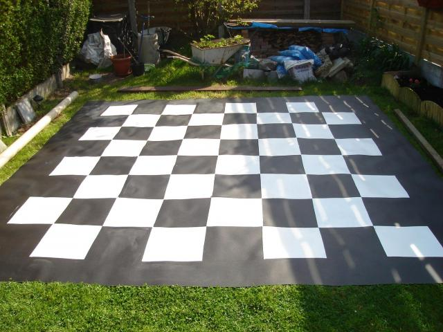 reuze schaakbord